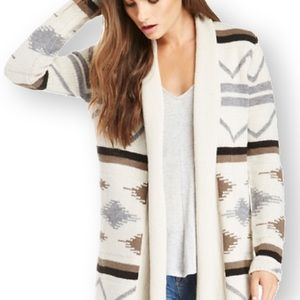 BB Dakota • Denny Tribal Print Oversized Cardigan